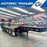 중국 3 차축 판매를 위한 낮은 침대 트럭 트레일러