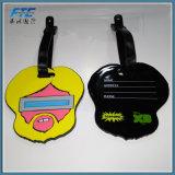 Etiqueta de goma suave respetuosa del medio ambiente del equipaje del PVC para el recorrido