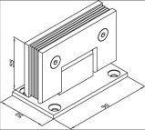 Душ из нержавеющей стали для петель на стену 90 градусов (SHT-B-ST)