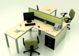 現代オフィスの2人(HF-YZ031)のためのアルミニウム区分ワークステーション
