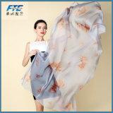 Netter Chiffon- Schal-Frauen-Silk Schal-Schal-weiblicher langer Entwurf