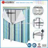 DIYの寝室の家具のT/Cの帆布覆いが付いている鋼鉄ワードローブの戸棚ラック