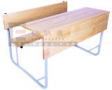 二重机椅子の価格の倍学生の机のための学校家具