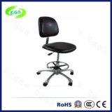 Schwarzer PU-Seifenschaum ESD-Arbeits-Stuhl mit justierbarer Höhe (EGS-3302-LHL)