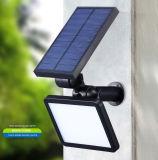Lumière solaire extérieure fixée au mur du détecteur de mouvement DEL, lumière solaire de mur, lampe solaire de DEL