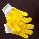 Gants industriels de sûreté de vêtements de travail de gants en caoutchouc de couleur noire et rouge