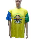 A campanha eleitoral T-shirt promocional amarelo