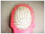 Cepillo principal doble de la preparación del animal doméstico con la maneta plástica