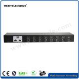 Desktop 4 Port Switch KVM HDMI com carcaça de alumínio