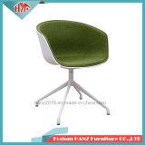Un design moderne plus confortable pour le foin demi-couvercle tissu jambe de métal Cool Chaises de bureau