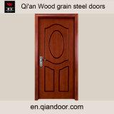 内部の木製の穀物の火評価される鋼鉄ドア