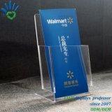 A4 A5 Acrylplastikschreibtisch-Broschüre-Blättchen-Zeichen-Halter