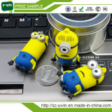 Movimentação 8GB do flash do USB do PVC do sequaz do amarelo da amostra livre