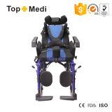 ظهر عادية يعجز يرقد [فولدبل] منافس من الوزن الخفيف كرسيّ ذو عجلات لأنّ حالة شلل أطفال