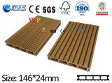 Decking composé en plastique en bois, bois de charpente en plastique, Decking de WPC