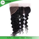 Cheveux humains mongol vierge pour frontale vague lâche 13*4