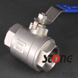 1000wog Heavy Type Stainless Steel 2 Piece Ball Valve