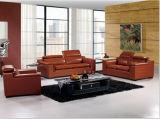 Le sofa à la maison moderne de meubles a placé avec le cuir italien