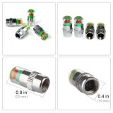 34 Psi Car Tire Pressure Monitor Valve Cup avec capteur Indicator 3 Color 4PCS Eye Alert Cap