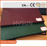 Cubierta de suelo de goma certificada Blocks/En1177 al aire libre de la azotea de la seguridad del caucho de la seguridad de Hvsun