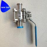 Edelstahl 3-Piece Tri-Schelle Kugelventil mit Verschluss und Montierung