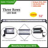 52pouces 338W Triple rangée de barre d'éclairage à LED Offroad LED Barre de feux de conduite 4X4 LED Bar