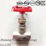 Válvula de compuerta de acero Stainess roscada