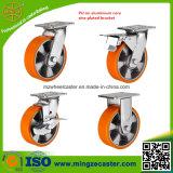 Industrielle Gesamtbremse PU-Rad-Fußrolle