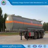 Acero al carbono Tri-Axle semi remolque cisterna para transporte de ácido sulfúrico