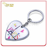 Custom Printed Zinc Alloy Heart Metal Key Tag Promotional Gift