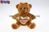 """6.3"""" recheadas de brinquedo Anjo Ursinho com coração de ouro travesseiro Bos1113"""