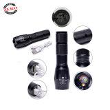 L'aluminium lampe torche LED rechargeables USB