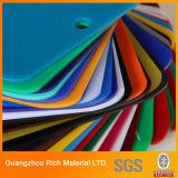 Limpar e placa de acrílico colorido PMMA plástico Plexiglass Folha de acrílico para sinais de letra