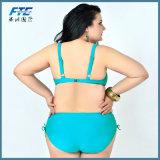 Grosse Größen-Badebekleidungs-Dame-zweiteiliger Bikini auf Lager