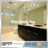 Dessus en pierre normaux blancs de vanité de quartz pour des salles de bains, hôtel