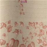 PVC Wallpaper di Laminate Interior Decoration Pink della camera da letto di Best Quality