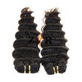 Grado 5A la Virgen de la India rizado cabello tejido humano