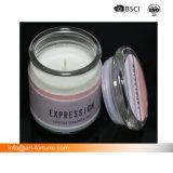 Característica de perfumadas velas de Yankee con tapa de cristal para la decoración del hogar