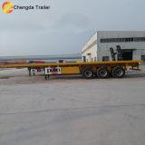 3 Flachbett-halb LKW-Schlussteil der Wellen-40FT mit Behälter-Verschluss