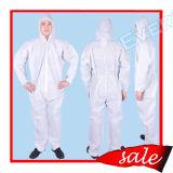 Spunbond使い捨て可能な青いSMSのNonwoven保護つなぎ服かジャケット