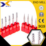 Micro OEM de carboneto de Grãos 2/3/4 Miolo Final Fresa para alumínio