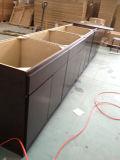 Gabinete de la base de la cocina de la chapa de madera del estilo de la losa