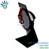 Visualización de acrílico negra superior contraria simple de los accesorios del estante de visualización del reloj
