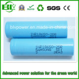18650 Li-íon Battery de 2500mAh 25r com modificação Battery de Samsung Inr18650-25r High Drain Rechargeable 18650