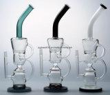 Tubo di acqua di fumo di vetro del riciclatore della vasca di gorgogliamento della sfera da 9 pollici