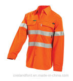 El Workwear sirve la chaqueta de shell suave impermeable del invierno del Hola-Vis
