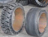 15 1/2*6*10 Appuyer-sur le pneu solide, pneu solide de coussin de pneu de chariot élévateur
