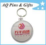Круглая форма акриловый цепочке для ключей с логотипом печати