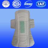 Débit lourde serviette hygiénique avec tampons de coton bio pour les femmes serviette de table avec le secteur privé l'étiquette (A240)