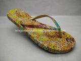 Flipflop der PE/EVA/Rubber Dame-Sandal mit Drucken (22FL909)